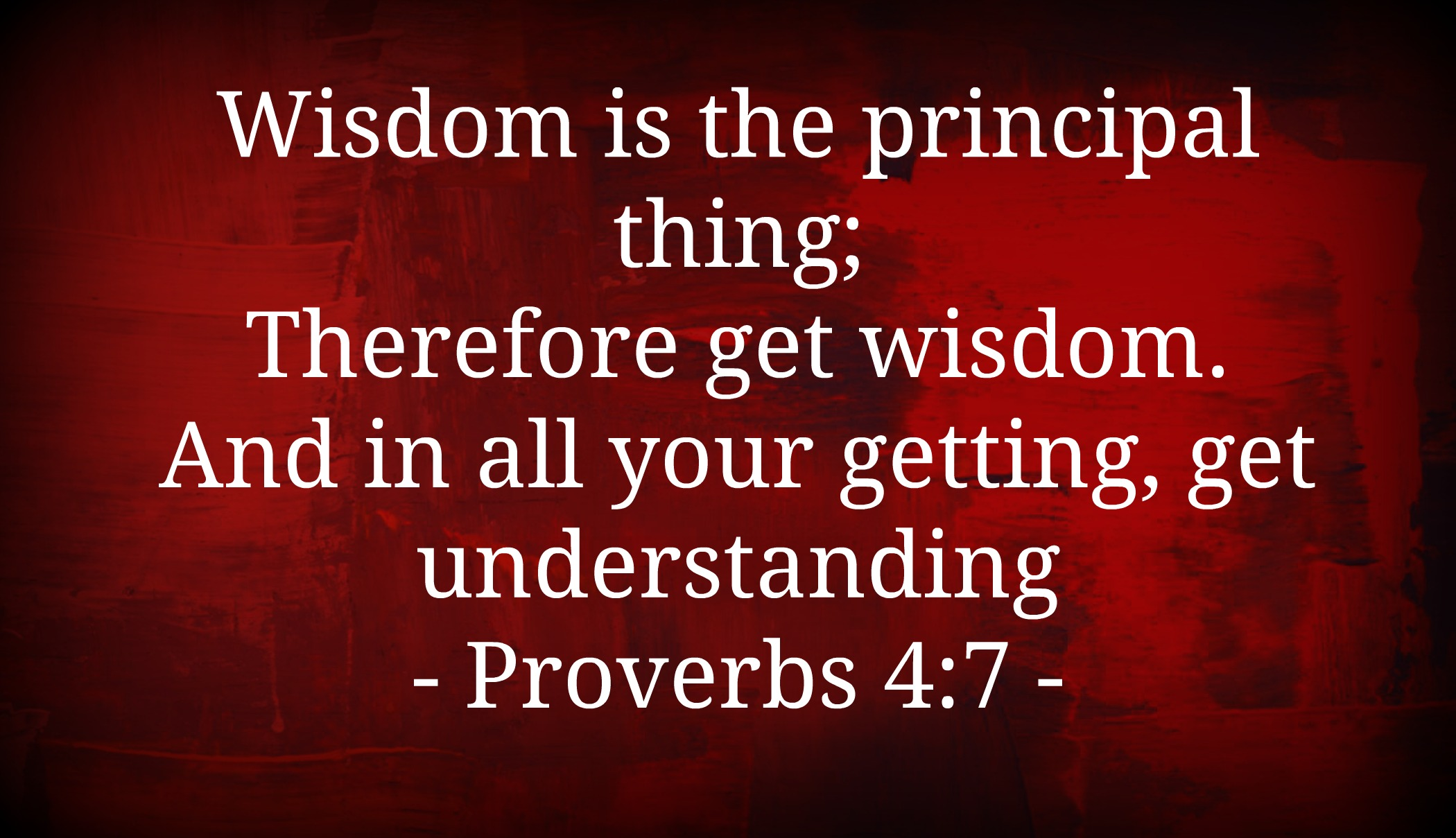 Get Wisdom!