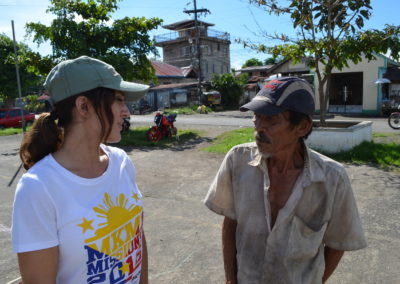 Sharing Christ to locals.